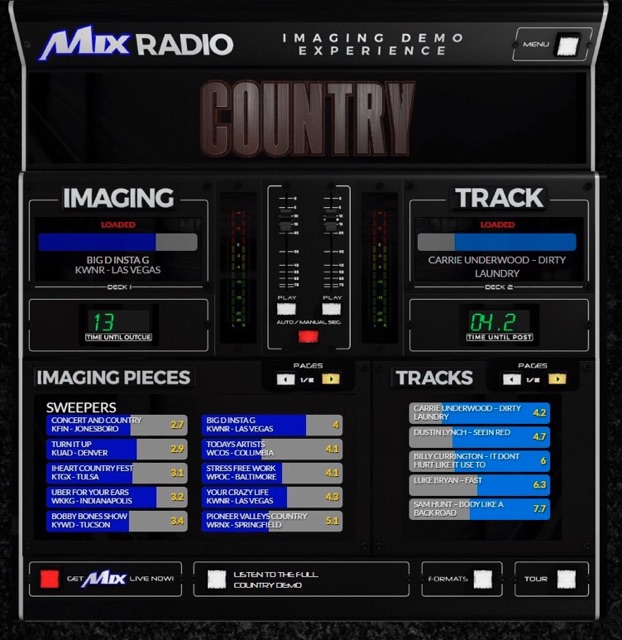 Country Radio Imaging Demo Experience